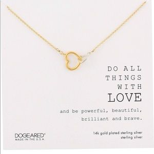 "Dogeared ""Do all things with love"" necklace"